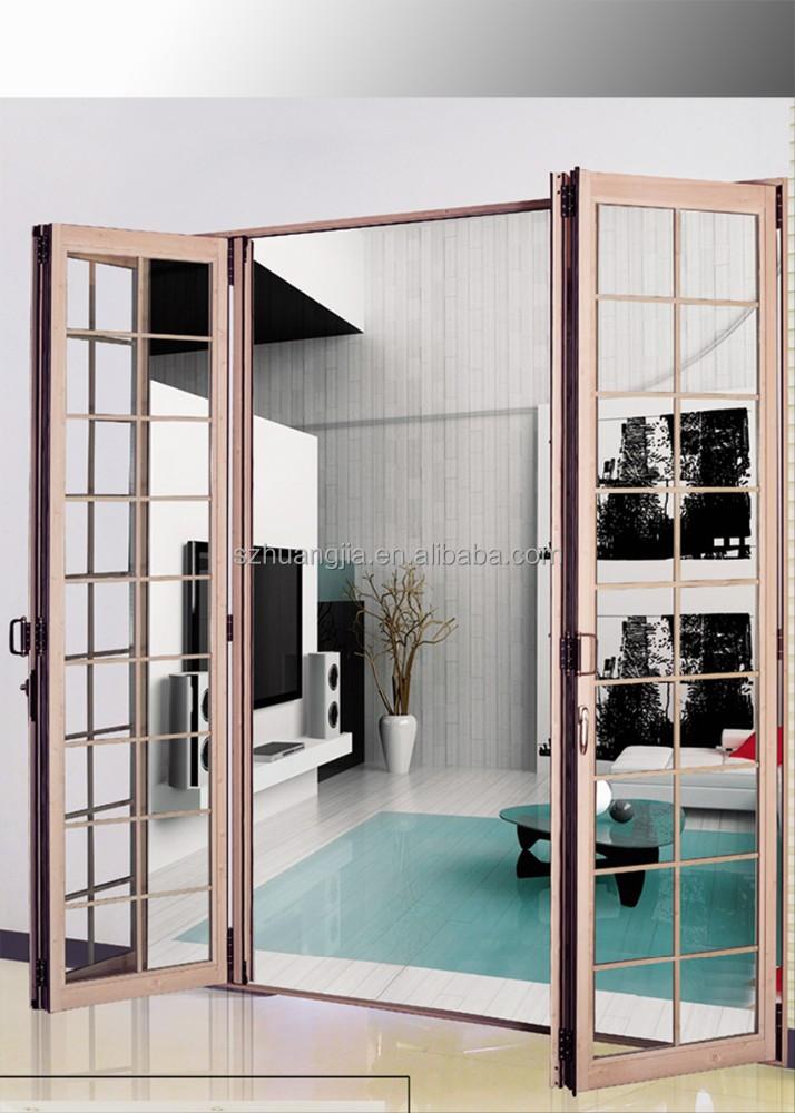 Alta moda telaio in alluminio porta di vetro/bifold scorrevole in ...