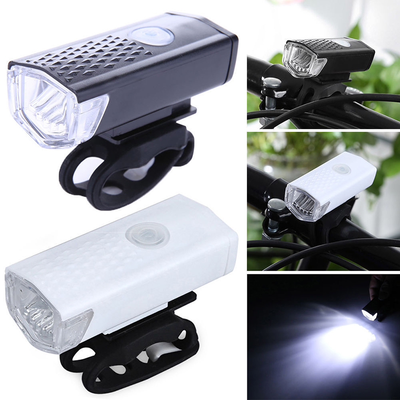 USB Rechargeable Powerful Bicycle Led Light Battery  Warning Waterproof Front Bike Light