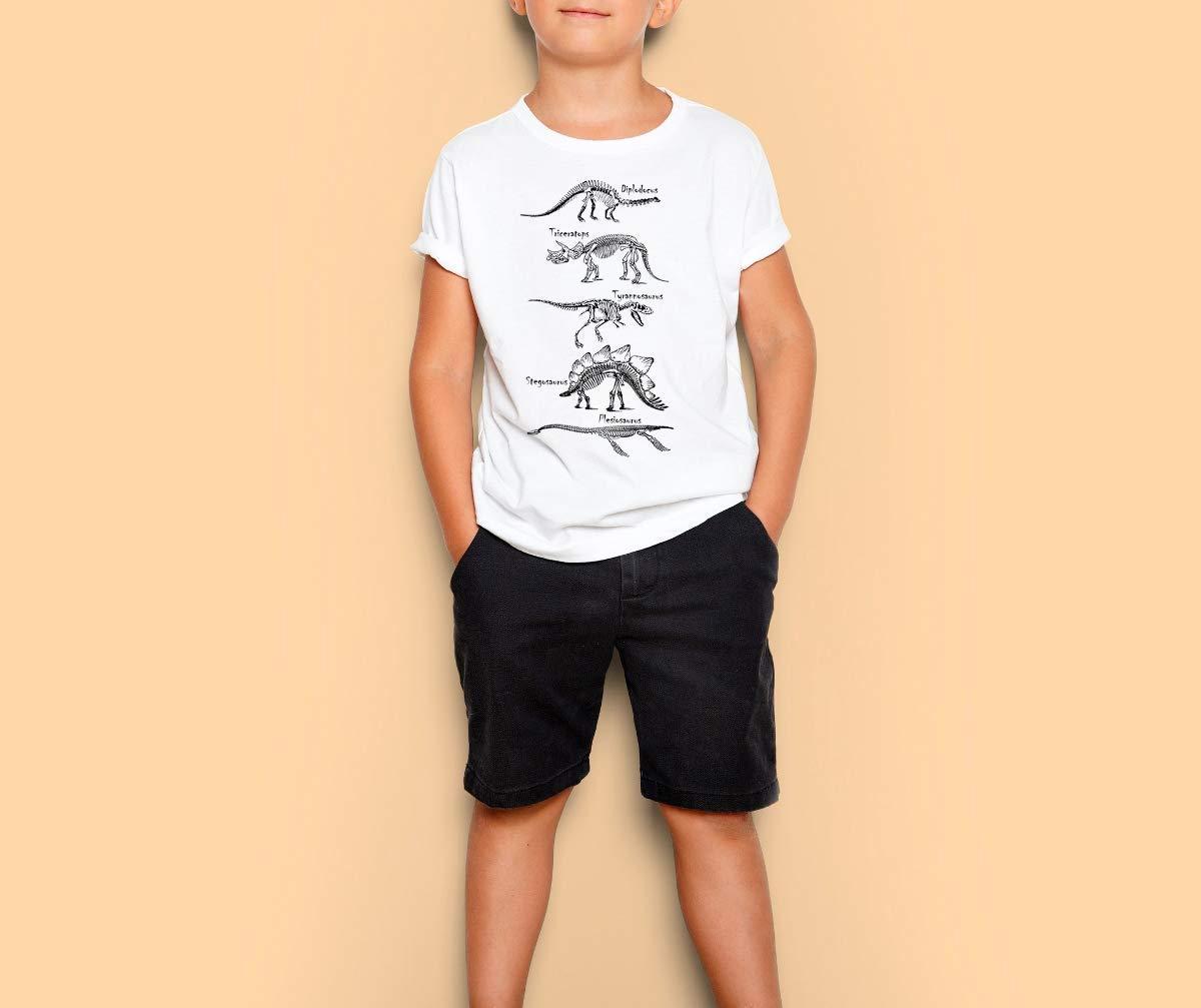 4f34af131 Get Quotations · Kids t-shirt, Dinosaur skeleton, Boys and girls tshirt,  graphic art tee