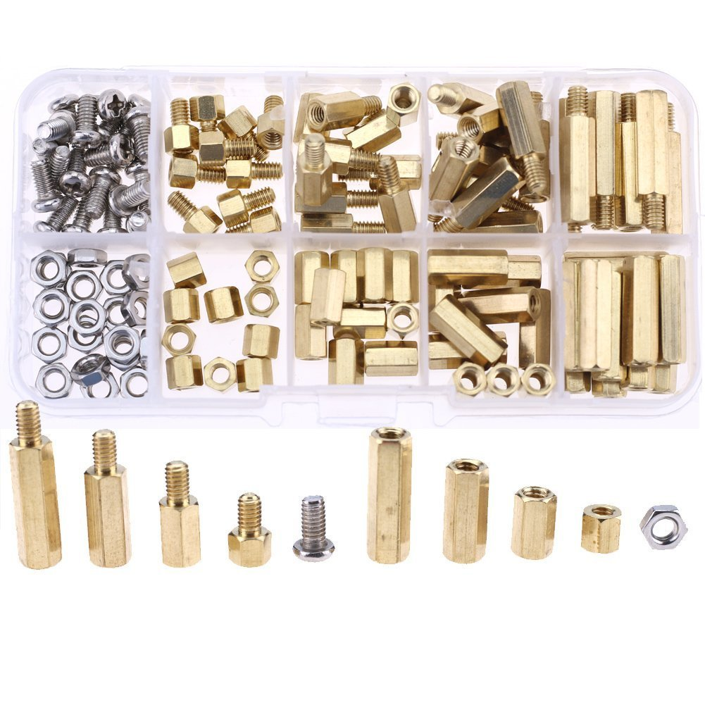 Cheap 3 Standoff Find Deals On Line At Alibabacom 120pcs M3 Copper Silver Brass Pillars Circuit Board Pcb Nut Get Quotations M4 Male Female Spacer Screw Assortment Kitbrass