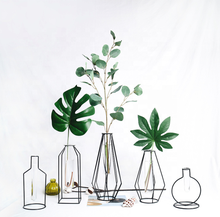 Nordic INS Stijl Nordic <span class=keywords><strong>vaas</strong></span> woonaccessoires metalen smeedijzeren hydrocultuur <span class=keywords><strong>planten</strong></span> glazen <span class=keywords><strong>vaas</strong></span>
