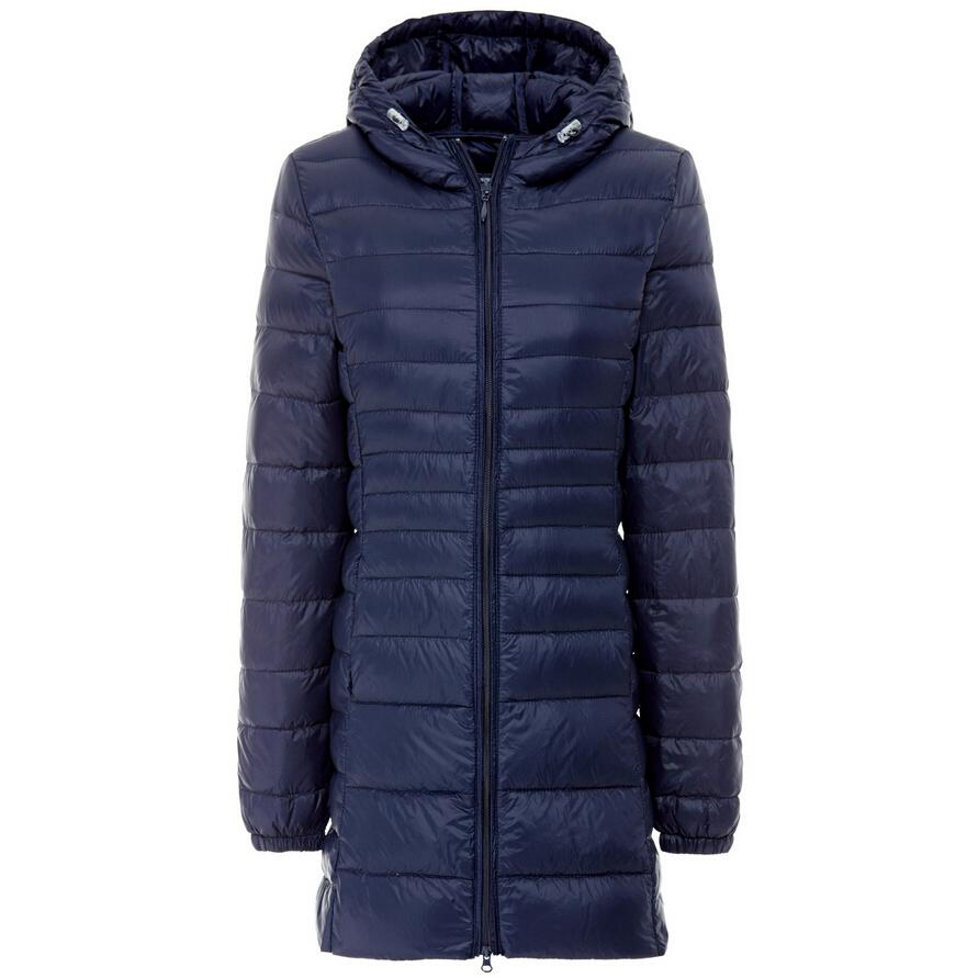 Mujeres largas chaquetas de invierno y abrigos abrigos con