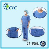 Disposable plus size hospital uniform antistatic scrub suits
