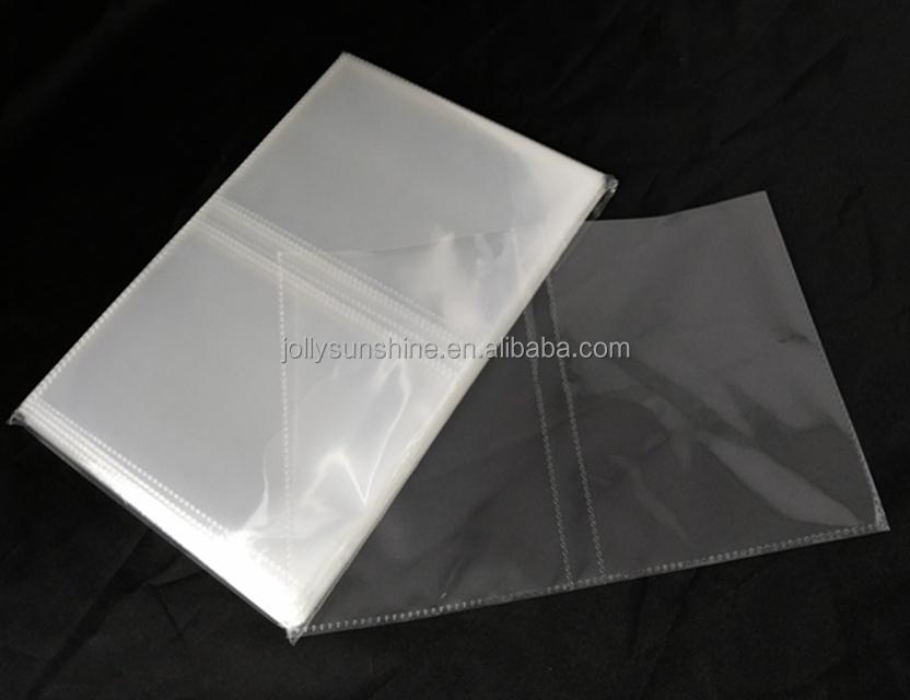 Custom 2 Pocket Photo Album Clear Pages Card Binder Transparent
