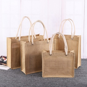 Gift Shopping Classic Jute Shopper, Plain Large Natural Jute Hessian Bag
