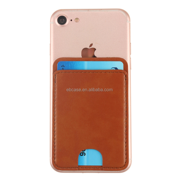 hot sale online b2d09 50364 Rfid Blocking Self Adhesive Leather Cell Phone Card Holder Wallet Fit For  Iphone And Android Smartphone - Buy Adhesive Phone Card Holder,Rfid  Adhesive ...