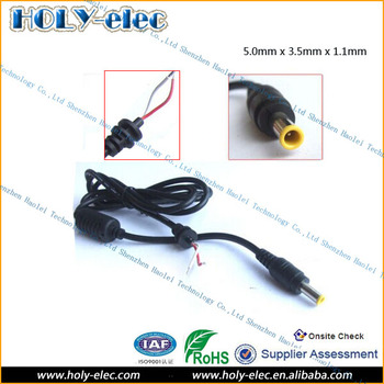 5mm X 3.5mm X 1.1mm Cable Wire Dc Male Plug Types For Dc Power ...
