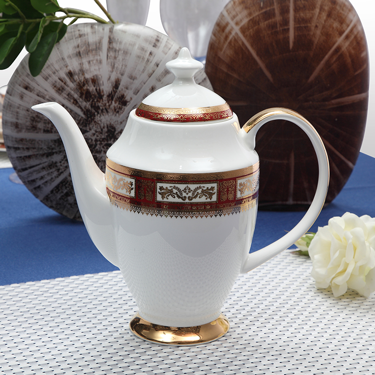 lowest price wholesale china ceramic teapot decal beautiful bone china dinner teapot