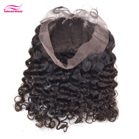 Raw unprocessed virgin human silk base 360 lace frontal with bundles,cheap afro kinky curly human hair lace frontal piece
