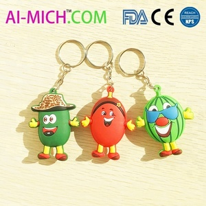 Personalized Cool Custom 3D Silicone PVC keychain