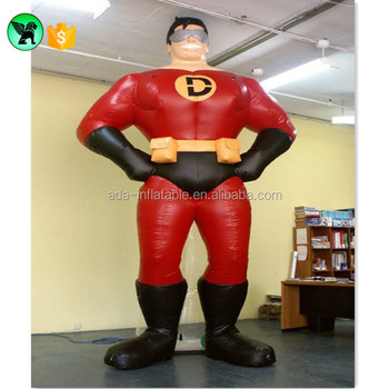 Advertising Inflatable Man Model Customized Super Hero Inflatable Event Cartoon Giant Super Man For Exhibition A680
