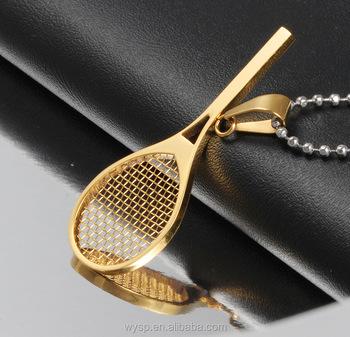 2016 latest design mini tennis racket pendant necklace gold buy 2016 latest design mini tennis racket pendant necklace gold mozeypictures Image collections