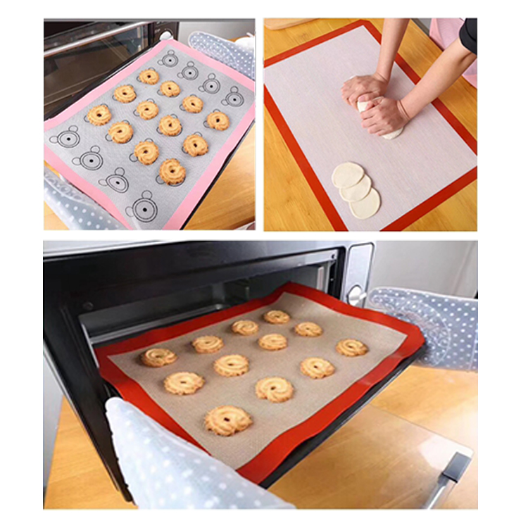 Factory supply non-slip large silicone pastry rolling mat with measurements