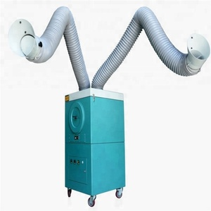 Portable Welding Fume Extractor/Industrial Dust Collector with Double Arms for Welding and Cutting machine