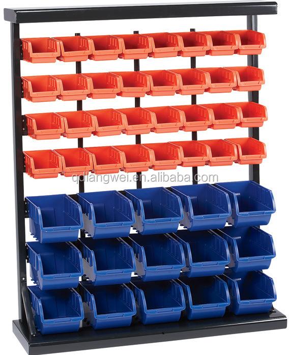 47 Bins Wall Benchop Tool Half Bulk Bin Storage Rack
