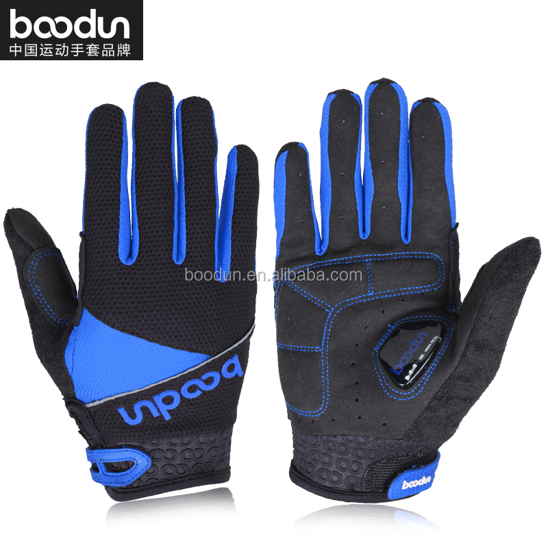 boodun Full finger Bike touch screen cycling gloves silicon printed Bicycle gloves