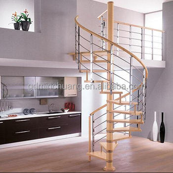 Indoor Spiral Stairs Sample Design Stainless Steel Railing Staircase