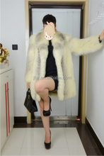 Luxury Brand 2017 Fur Coat Of Whole Fox Skin Winter Warm Women Animal Fur Overcoat