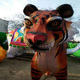 Chinese traditional handmade tiger paper lanterns forest animals lanterns for decoration