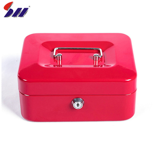 152*118*80mm Custom cold rolling steel key lock hidden money box design