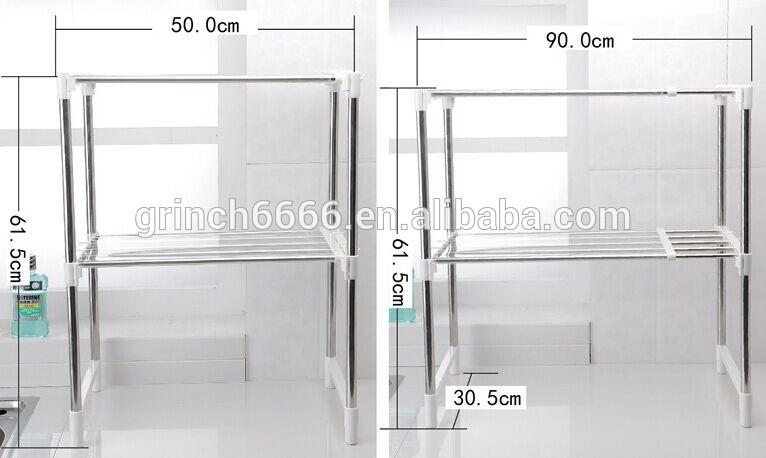 verstellbare edelstahl mikrowelle regal mikrowelle racks bild tellerregal produkt id. Black Bedroom Furniture Sets. Home Design Ideas