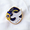 hot sell T-shirt brooch collar hat pin jewellery enamel lapel pins chips shape badge pins