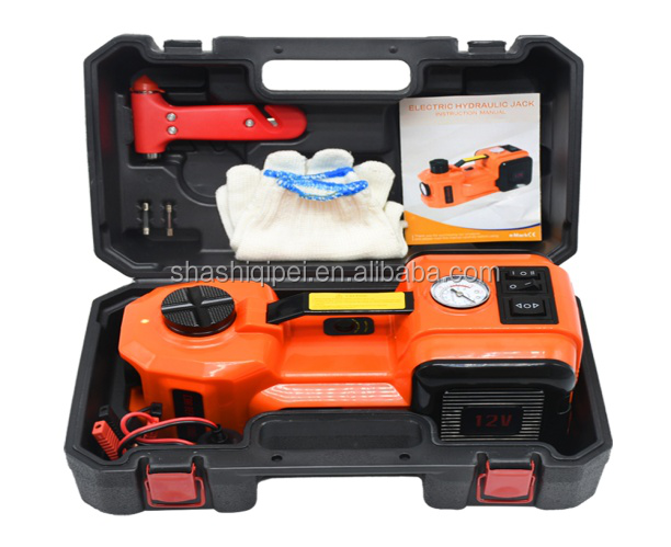 Electric impact wrench 2-3 Ton lifting car jack with safety hammer