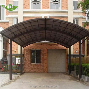 shipping container aluminium car parking shelter with polycarbonate sheet