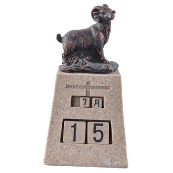 Domba Zodiak Kalender Resin Kerajinan Souvenir Pernikahan Oem 14012