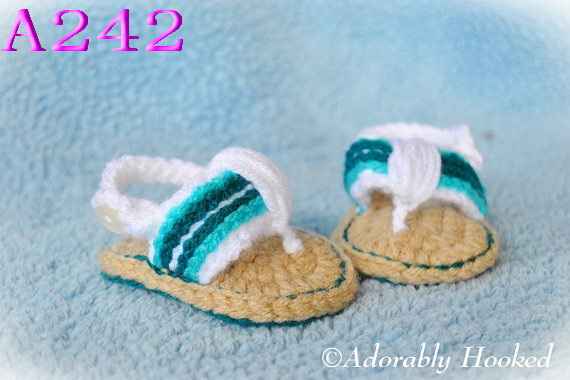 Free shipping Crochet Baby Shoes Baby boy Flip Flops Crochet Baby Toddler shoes Sizes 0 12