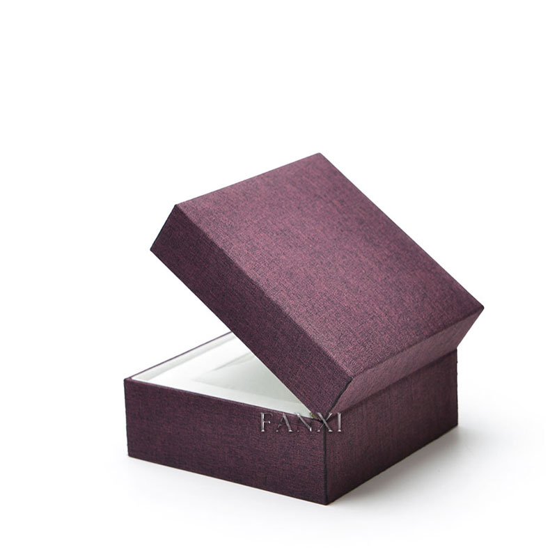 FANXI Custom Classic Linen Fabric Wrapped Plastic Box Velvet Pillow Bracelet Bangle Jewelry Packaging Display Watch Storage Box