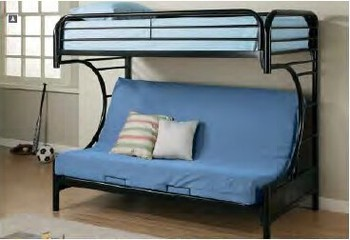 Twin Over Metal Bunk Bed 2253 With Futon Fortune Global 500 Company