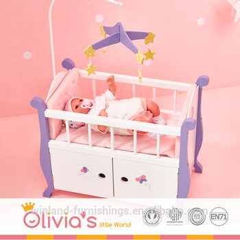 Olivia S Little World Nursery Crib Bed With Storage Cabinet White Wooden 18 Inch Doll Furniture Buy Doll Furniture For 18 Dolls Bedroom