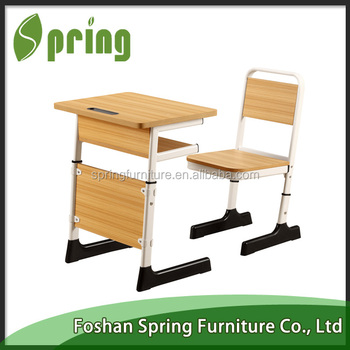 used school furniture for sale melamine school desk and bench kz 09