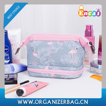 Encai 6 New Printing Makeup Bag Lady Zipper Frame Cosmetic Bag