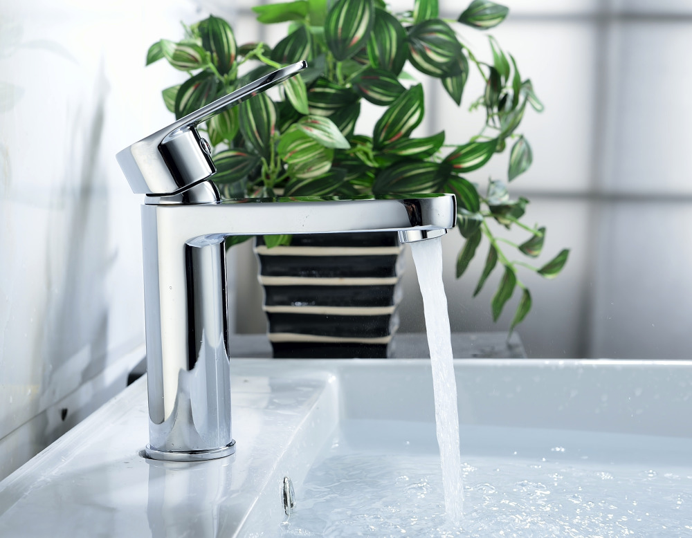 New product brass waterfall glass basin faucet