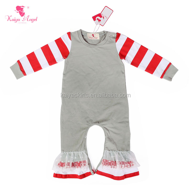 Wholesale Baby Girls Long Sleeve Cotton Romper, Soft Baby Winter Rompers