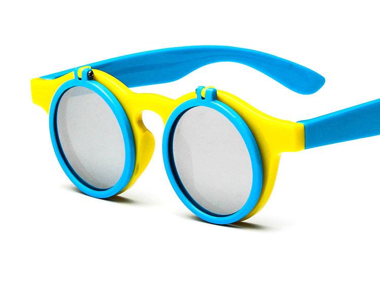 5de31a63cc Get Quotations · 2015 Korean Style Clamshell Sunglasses Kids Round Frame  Sun Glasses For Children 1312