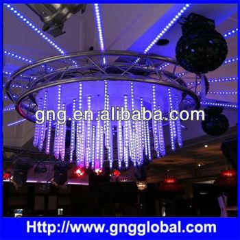 falling snow christmas lights dmx rgb smd5050 led rain curtain light