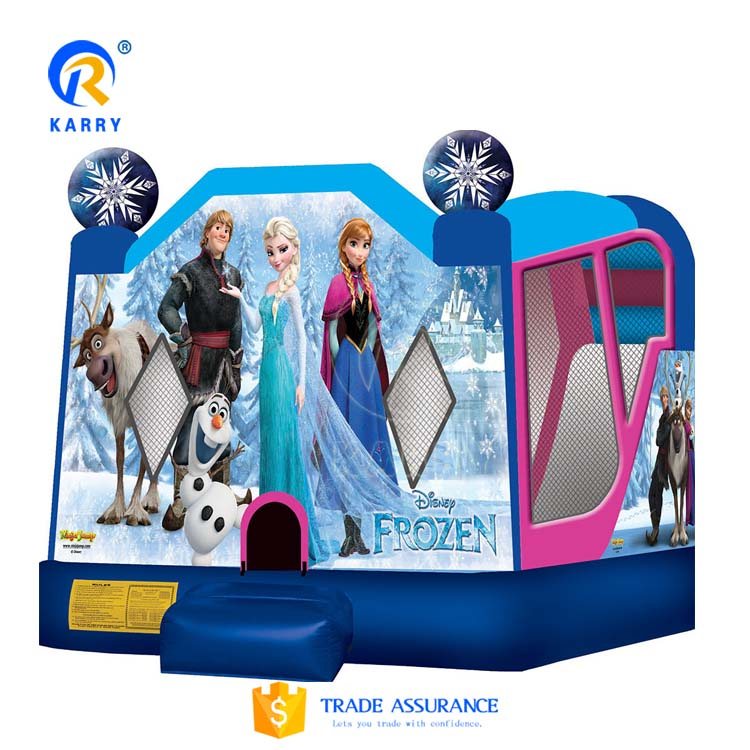 Frozen jumping inflatable castle, kids bounce house, inflatable bouncy castle for sale