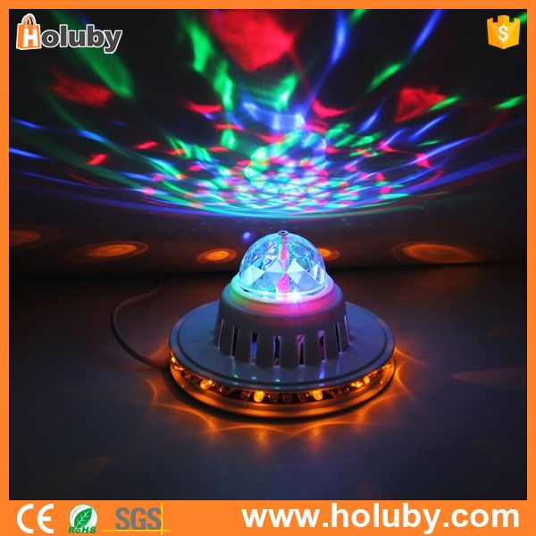 Wholesale 8W Lamp Mini Stage Disco Effect LED RGB Ball Stage Light