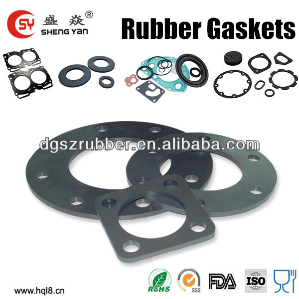 china supplier custom nbr rubber flange gasket