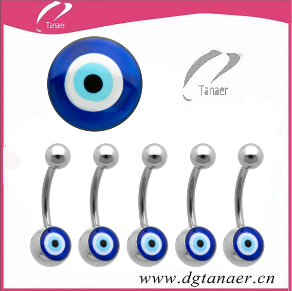 316L Stainless Steel Evil Eye Logo Belly Rings With Most Popular Productus