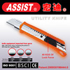 ASSIST high quality plastic pocket knife with ABS case retractable auto lock cutting blade pocket knife