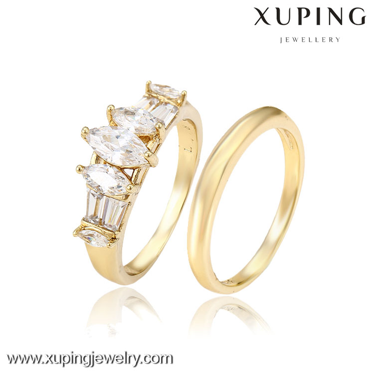 12810 Xuping jewelry 14k gold color plated fashion romantic rings charm design gift party jewelry for girl women