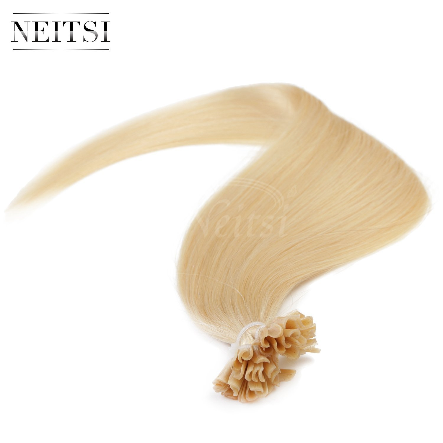 "Neitsi® 20"" 25s/lot 1g/s 100% Remy Human Hair Nail U Tip Hair Extension (22#)"