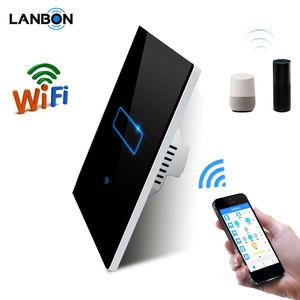 Home automation 1 gang wifi wireless smart switch Lanbon remote control switch zigbee compatible with google and alexa