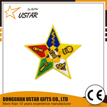 Five star shape patches/embroidered patch for shirts