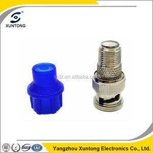 BNC male to F female connector with CAP