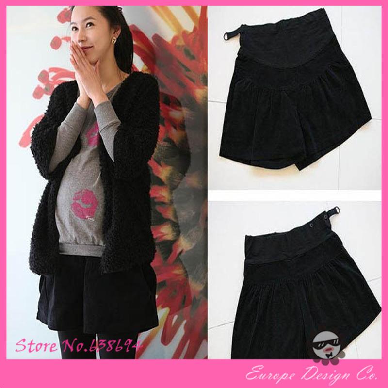 Для беременных зима шорты Feminino сплошной короткая с леггинсы черный одежда для беременных женщины для беременных шорты